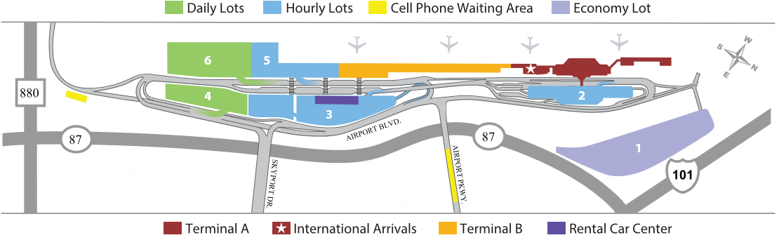 Image of Do you know the ways to San Jose Airport?